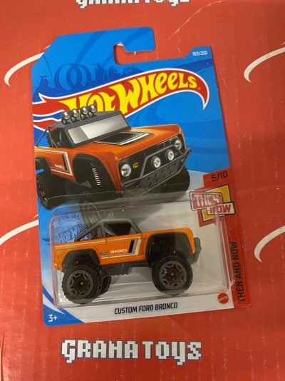 Custom Ford Bronco #163 Orange 6/10 Then and Now 2021 Hot Wheels Case P