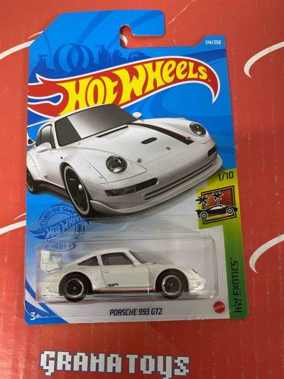 Porsche 993 GT2 #174 White 1/10 Exotics 2021 Hot Wheels Case P